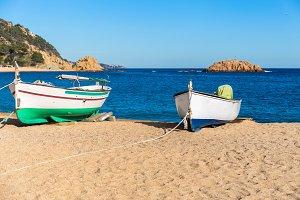 Boats in Costa Brava