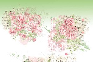 Shabby Chic Rose Blendables - PNG