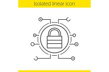 Lock linear icon. Vector