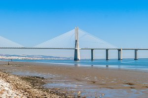 Vasco de Gama Bridge in Lisbon