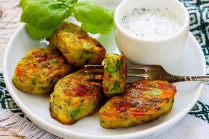 Healthy vegetarian vegetable patties