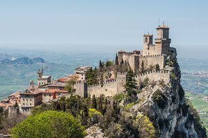 The Guaita fortress is the oldest and the most famous tower in San Marino