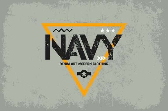 Navy tee print vector design