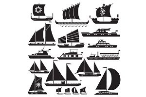 Icons motor and sailing yachts
