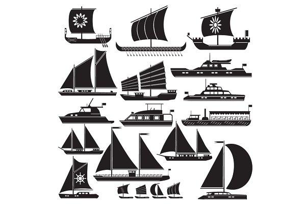 Icons motor and sailing yachts