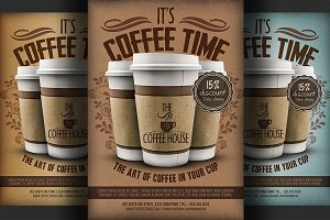 Coffee Shop Promotion Flyer Template