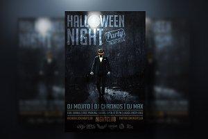 Halloween Grunge Flyer