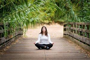girl young practicing yoga