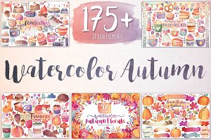Watercolor Autumn & Winter Bundle