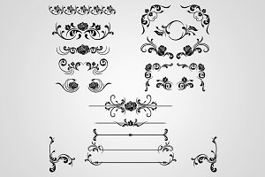 16 Floral Decorations & Dividers