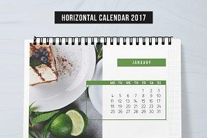 Horizontal Calendar 2017