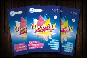 Open Air Party Flyer Template