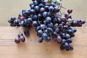 dark and white grapes