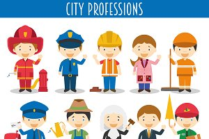 City Professions Characters
