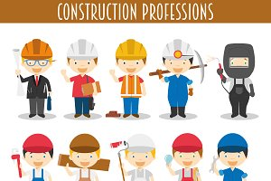 Construction Professions Characters