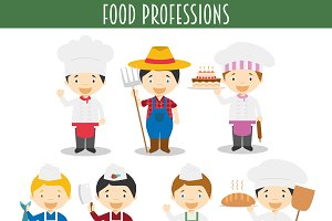 Food Professions Characters