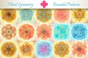 15 Floral Symmetry Patterns. Set #2