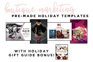 Holiday Boutique Marketing Templates