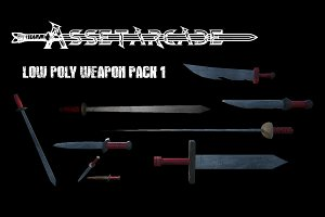 Asset Arcade Low Poly Weapon Pack 1