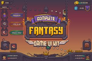 Complete Fantasy Game UI kit