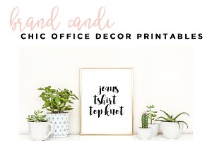 Chic Office Decor Printables