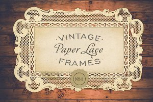 Antique Paper Lace Frames No. 3