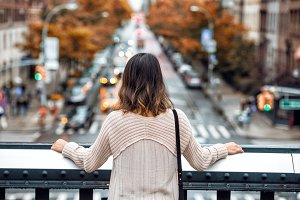 Beautiful woman travel in New York