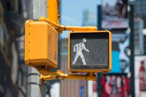 Pedestrian traffic walk light