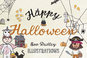 Boo Radley - Halloween Illustrations