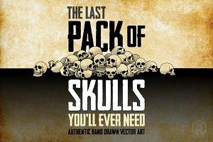 63 Hand-Drawn Skulls + Bonus Skulls