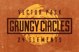24 Grungy Circles