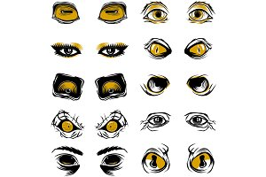 Various sets of eyes