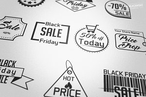 Black Friday Sale Badges Logos