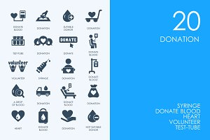 Donation icons
