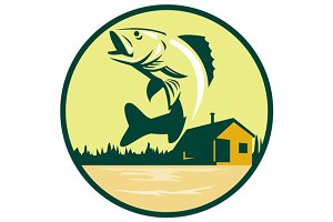 Walleye Fish Lake Lodge Cabin Circle