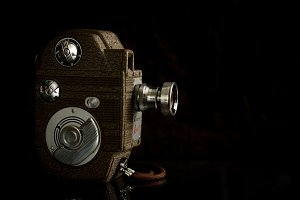 Vintage Video Camera (side view)