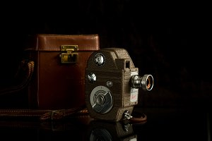Vintage Video Camera and Case