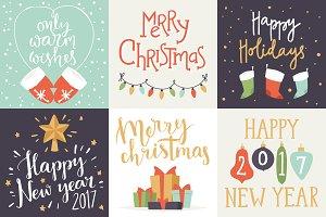 Merry Christmas invitation card set
