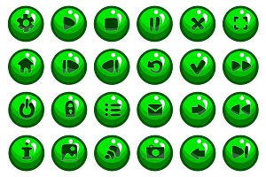 Set of vector button for game design