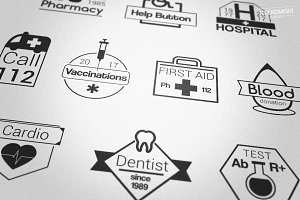Healthcare Medical Badges Logos