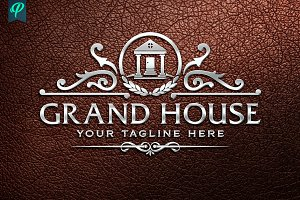 GrandHouse - Luxury Real Estate Logo
