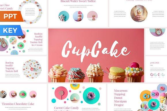 Cupcake presentation template presentation templates creative market toneelgroepblik Image collections