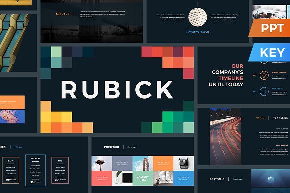 rubick presentation template presentation templates creative market