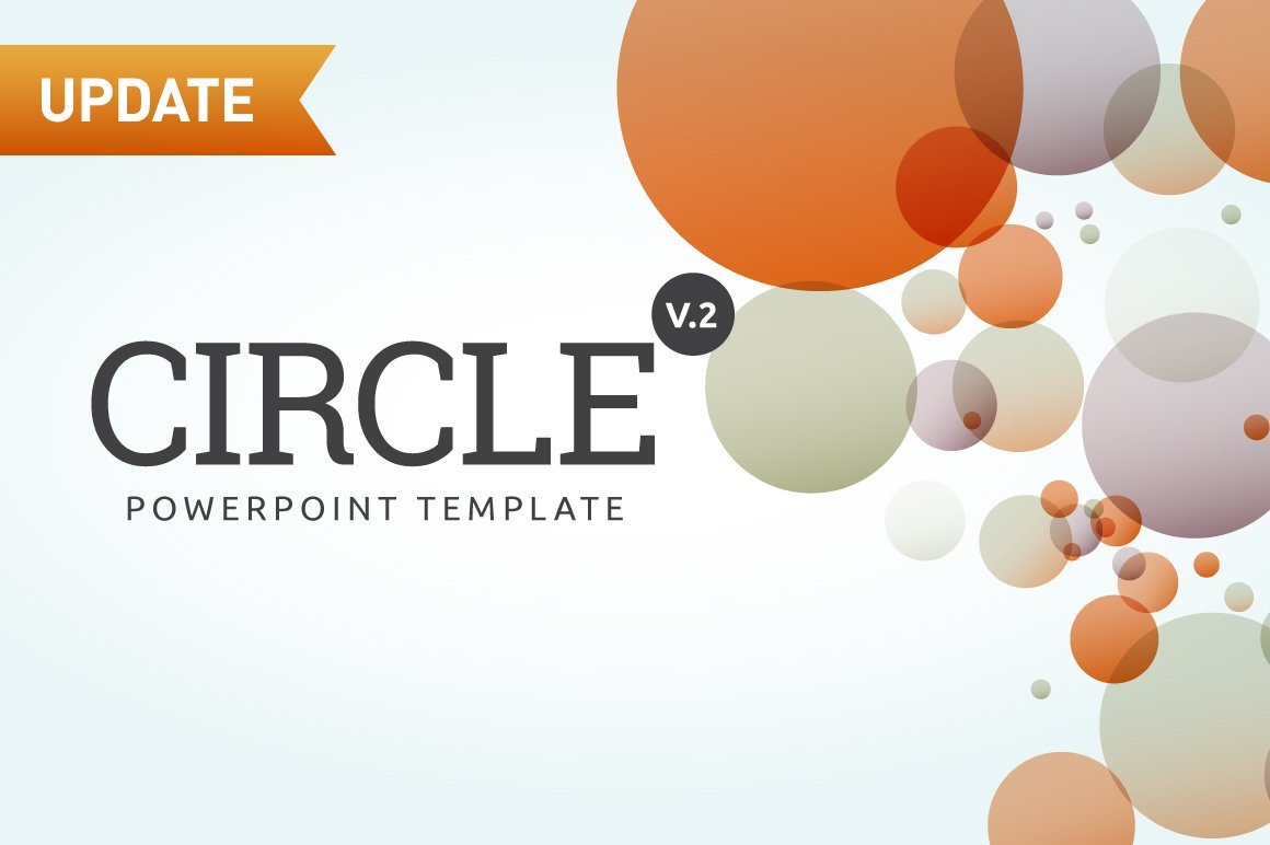 Circle Powerpoint Template Presentation Templates Creative Market