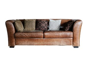leather sofa isolated
