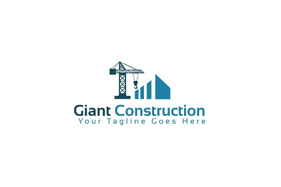 giant construction logo template logo templates creative market