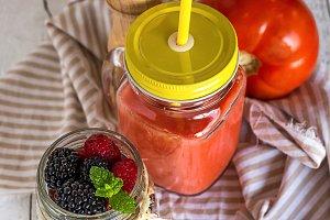 Homemade antioxidant smoothie
