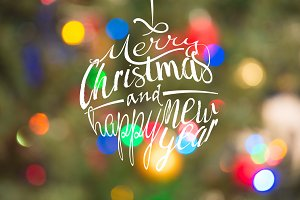 Colorful Merry Christmas greetings