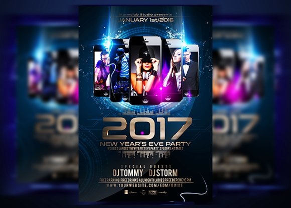 New Years Eve Bash Flyer Templates Creative Daddy