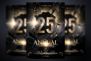 Anniversary Party Flyer Template